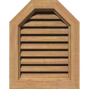 Restorers Architectural Octagonal Top Cedar Brickmould Frame Gable Vent