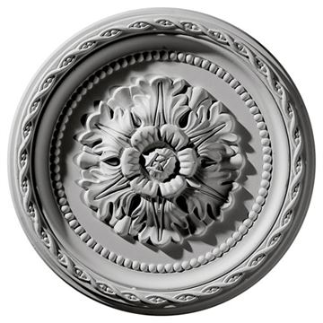 Restorers Architectural Palmetto 11 1/2 Prefinished Ceiling Medallion