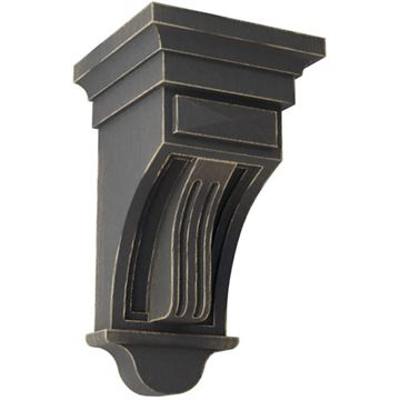 Restorers Architectural Raised Flute 10 Inch Prefinished Corbel