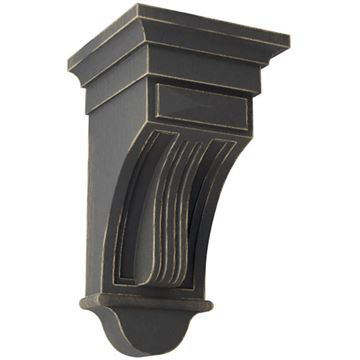 Restorers Architectural Raised Flute 12 Inch Prefinished Corbel