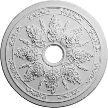 Restorers Architectural Rose & Ribbon Prefinished Ceiling Medallion