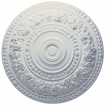 Restorers Architectural Rose 33 7/8 Prefinished Ceiling Medallion