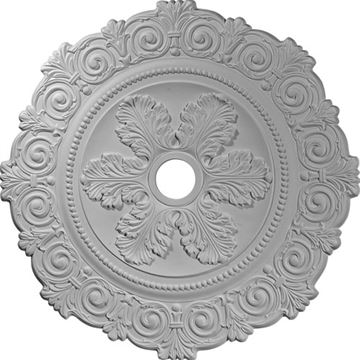 Restorers Architectural Scroll Prefinished Ceiling Medallion