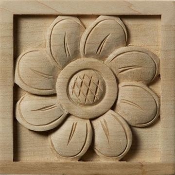 Restorers Architectural Sunflower Rosette Square Applique