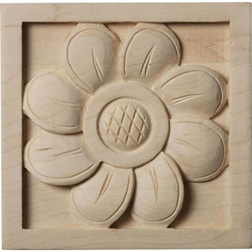 Restorers Architectural Sunflower Square Rosette Applique