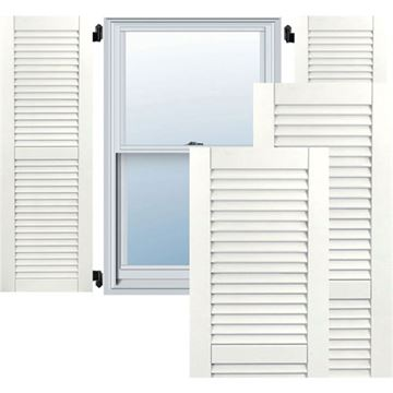 Restorers Architectural Two Equal Louver PVC Shutters - Pair