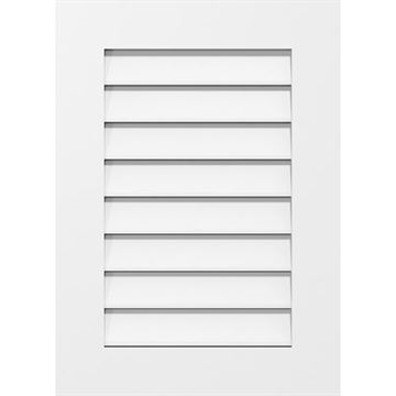 Restorers Architectural Vertical Standard Frame PVC Gable Vent