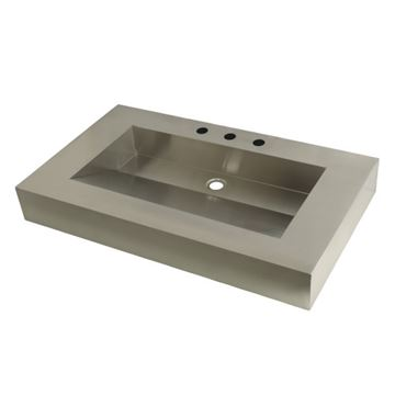 Fauceture Commercial Stainless Steel Bathroom Wash Basin 22 x 37 Inch
