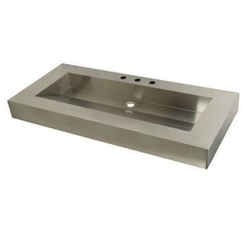 Fauceture Commercial Stainless Steel Bathroom Wash Basin 22 x 49 Inch