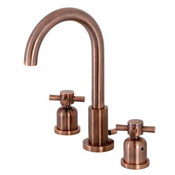Fauceture Concord Cross Gooseneck Widespread Bathroom Faucet