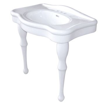 Fauceture Imperial Basin Console Sink with 4 Inch Faucet Holes