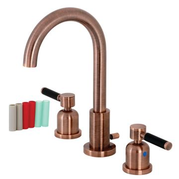 Fauceture Kaiser Lever Gooseneck Widespread Bathroom Faucet