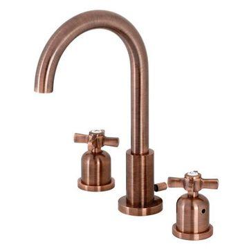 Fauceture Millenium Cross Gooseneck Widespread Bathroom Faucet