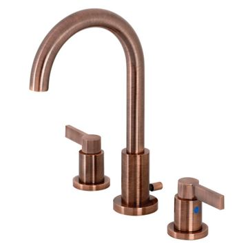 Fauceture NuvoFusion Lever Gooseneck Widespread Bathroom Faucet