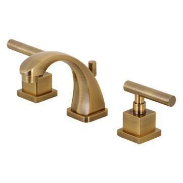 Restorers Claremont 8 Inch Widespread Bathroom Faucet - Metal Lever