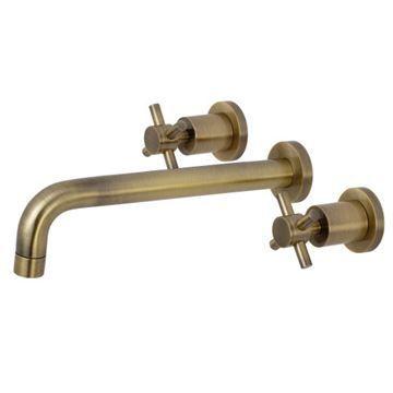 Restorers Concord 2-Handle Wall Mount Roman Tub Faucet - Cross