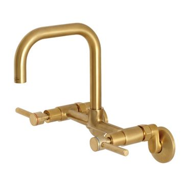 Restorers Concord 8 Inch Adjustable Wall Mount Kitchen Faucet - Lever