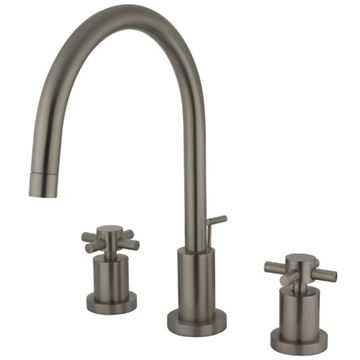 Restorers Concord 8 Inch Bathroom Faucet - Metal Cross