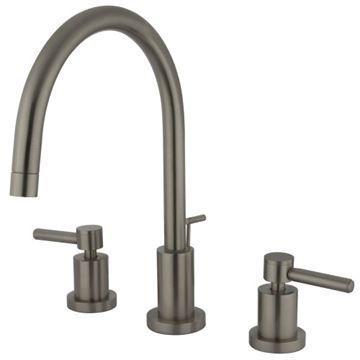 Restorers Concord 8 Inch Bathroom Faucet - Metal Lever