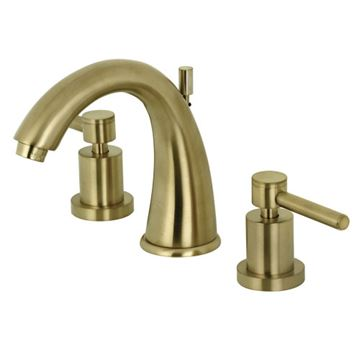 Restorers Concord 8 Inch Widespread Bathroom Faucet - Metal Lever