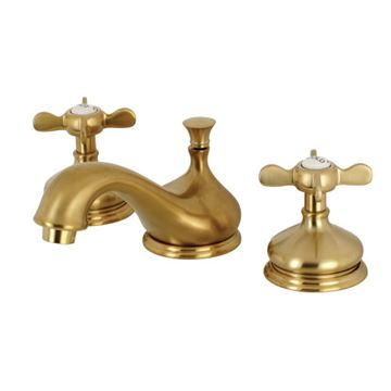 Restorers Essex Widespread Bathroom Faucet - Metal Cross