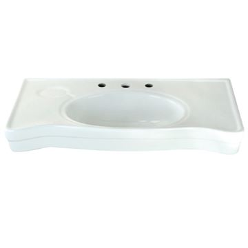 Restorers Imperial Ceramic Console Sink Basin Only - No Legs