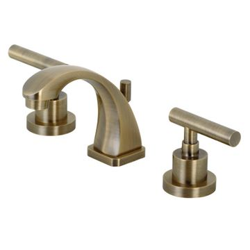 Restorers Manhattan 8 Inch Widespread Bathroom Faucet - Metal Lever