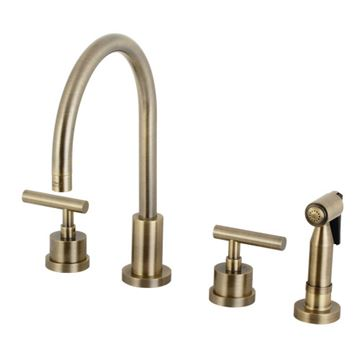 Restorers Manhattan 8 Inch Widespread Kitchen Faucet & Sprayer