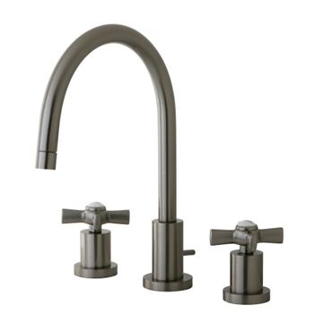 Restorers Millenium 8 Inch Bathroom Faucet - Metal Cross