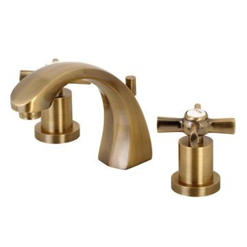 Restorers Millenium 8 Inch Widespread Bathroom Faucet - Cross