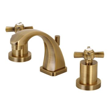 Restorers Millenium 8 Inch Widespread Metal Cross Bathroom Faucet