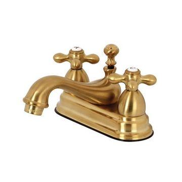 Restorers Restoration 4 Inch Centerset Lavatory Faucet - Metal Cross