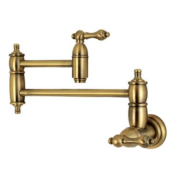 Restorers Restoration Wall Mount Kitchen Pot Filler - Metal Lever