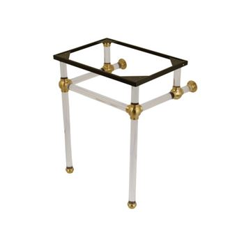Restorers Templeton Brushed Brass Acrylic Console Legs Only - No Top