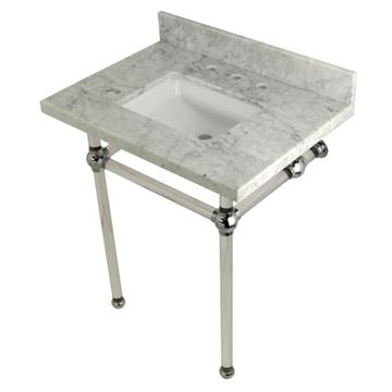 Restorers Templeton Marble Console Sink - Clear & Chrome - Square