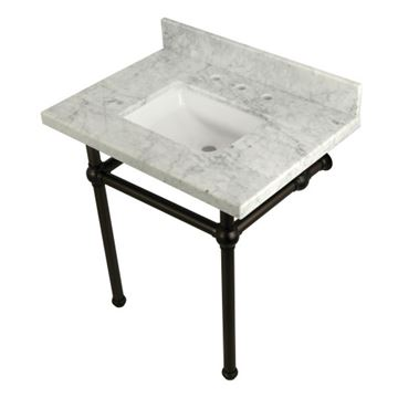 Restorers Templeton Marble Console Sink - Bronze Legs - Square