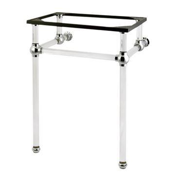 Restorers Templeton Polished Chrome Acrylic Console Legs Only - No Top