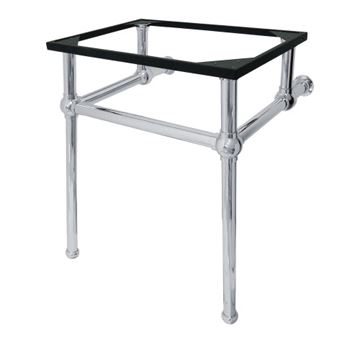 Restorers Templeton Polished Chrome Console Legs Only - No Top