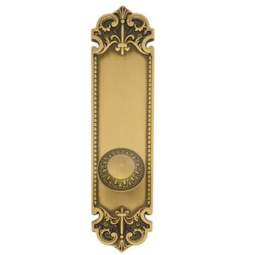 Brass Accents Fleur De Lis 12 3/4 Interior Door Set - Egg & Dart Knob