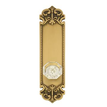 Brass Accents Fleur De Lis 12 3/4 Interior Door Set - Hartford Knob