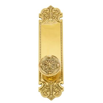 Brass Accents Fleur De Lis 12 3/4 Interior Door Set - Maltesia Knob