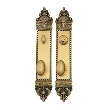Brass Accents Fleur De Lis Windsor Single Cylinder 2 3/8 Entry Set
