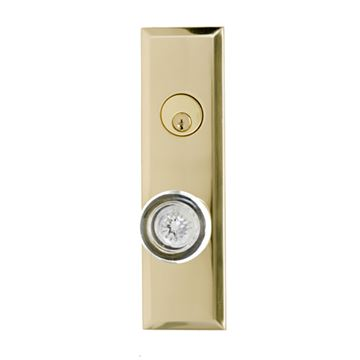 Brass Accents Quaker Empire Single Deadbolt Entry Set - 2 3/8