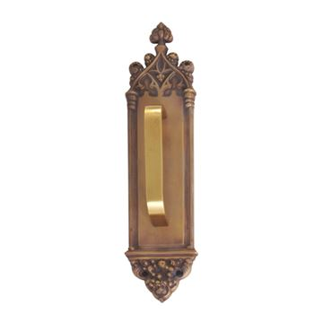 Brass Accents Renaissance Gothic Pull Plate - Traditional Pull