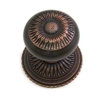 Brass Accents Sunburst Interior Door Knob Set