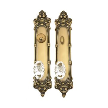 Brass Accents Victorian Entry Door Knob Set - 2 3/8 Single Cylinder