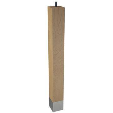 Designs of Distinction 2 x 18 Square Leg & Bolt - Brushed Aluminum