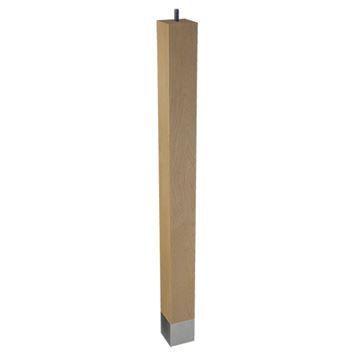 Designs of Distinction 2 x 24 Square Leg & Bolt - Brushed Aluminum