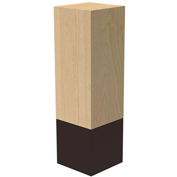 Designs of Distinction 3 x 10 Inch Leg with Oil Rubbed Bronze Sleeve