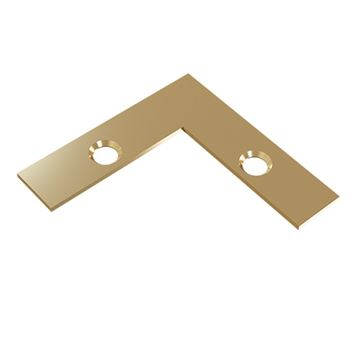 Designs of Distinction 3/8 Inch Flat L-Shape Corner Strap